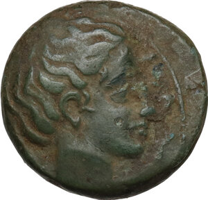 obverse: Syracuse.  Second Democracy (466-405 BC).. AE Tetras, after 425 BC