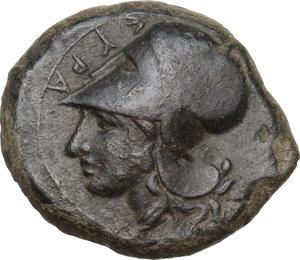 obverse: Syracuse.  Second Democracy (466-405 BC).. AE Hemilitron, 409 BC