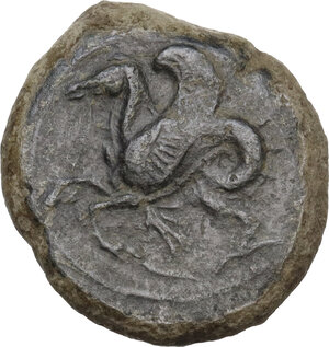 reverse: Syracuse.  Second Democracy (466-405 BC).. AE Hemilitron, 409 BC