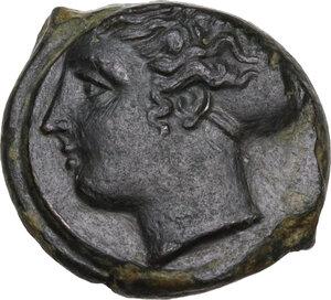 obverse: Syracuse.  Second Democracy (466-405 BC).. AE Hemilitron, c. 415-405 BC