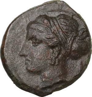 obverse: Syracuse.  Second Democracy (466-405 BC).. AE 17 mm, after 410 BC