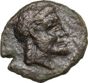 obverse: Syracuse.  Roman Rule.. AE 14 mm, 214-212 BC