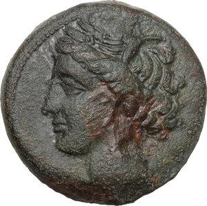 obverse: AE 18 mm, 300-264 BC