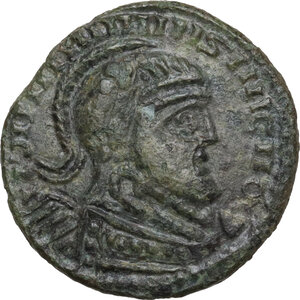 obverse: Uncertain Germanic tribes. Pseudo-Imperial coinage. . AE 18 mm, imitation of Constantine I, 4th-5th century