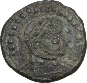 obverse: Uncertain Germanic tribes. Pseudo-Imperial coinage. . AE 18 mm. Imitating Siscia mint Follis of Constantine I, 4th-5th century