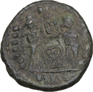 reverse: Uncertain Germanic tribes. Pseudo-Imperial coinage. . AE 18 mm. Imitating Siscia mint Follis of Constantine I, 4th-5th century