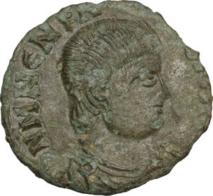 obverse: Uncertain Germanic tribes. Pseudo-Imperial coinage. . AE 17 mm. Imitation of Magnentius. Mid 4th-early 5th century AD