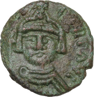 obverse: Heraclius (610-641).. AE Decanummium. Catania mint. Dated RY 5 (614/5)