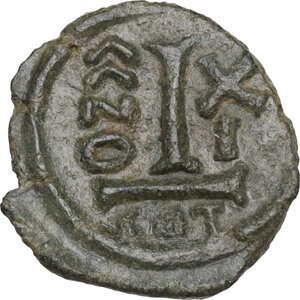 reverse: Heraclius (610-641).. AE Decanummium. Catania mint. Dated RY 11 (620/1)