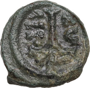 reverse: Heraclius (610-641). AE Decanummium. Catania mint. Dated RY 16 (625/6)