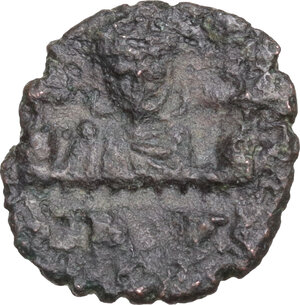 reverse: Leo III and Constantine V (717-741).. AE Follis. Syracuse mint, 722-730