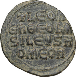 reverse: Leo VI the Wise (886-912).. AE Follis. Constantinople mint