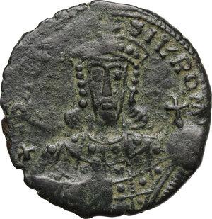 obverse: Constantine VII Porphyrogenitus (913-959).. AE Follis. Constantinople mint, 945-950