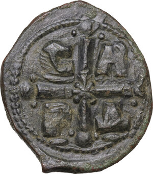 reverse: Romanus IV (1068-1071).. AE Follis. Constantinople mint