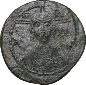 obverse: Michael VII Ducas (1071-1078). AE Follis. Constantinople mint