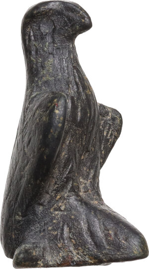 obverse: Roman bronze eagle, probably part of a folding knife handle  Roman, 1st-2nd century AD.  Hight 27 mm. 13.63 g
