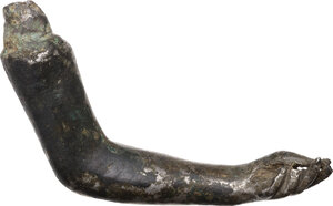 reverse: Solid silver female arm.  Roman, 1st-3rd century AD.  61 mm. 39.36 g