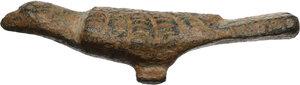 reverse: Bronze bird decorative element.  Late Roman or Byzantine.  40 mm. 8.75
