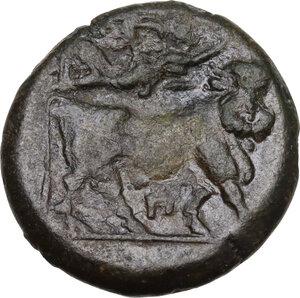 reverse: Samnium, Southern Latium and Northern Campania, Suessa Aurunca. AE 19 mm, circa 265-240 BC
