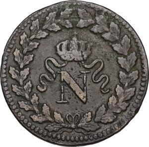 obverse: France.  Napoleon Bonaparte (1801-1815).. Un Decime 1815 BB, Strasburg mint