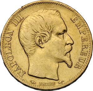 obverse: France.  Napoleon III (1852-1870).. AV 20 Francs, 1853 A, Paris mint