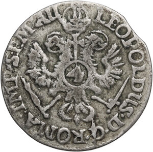 obverse: Germany.  Leopold I (1658-1705). AR 4 Schilling 1703, Hamburg mint
