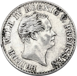 obverse: Germany.  Friedrich Wilhelm IV (1840-1861). AR 2-1/2 Groschen, Clausthal (Hannover) mint, 1843 A