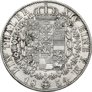 Germany.  Friedrich Wilhelm IV (1840-1861). AR Taler, Berlin mint, 1854 A