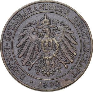 obverse: Germany.  Wilhelm II (1888-1918). AE Pesa 1890, German East Africa