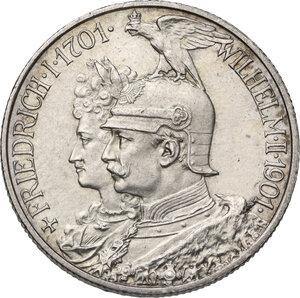 obverse: Germany.  Wilhelm II (1888-1918).. AR 2 Mark, Berlin mint, 1901 A