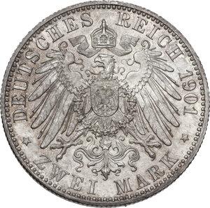 reverse: Germany.  Wilhelm II (1888-1918).. AR 2 Mark, Berlin mint, 1901 A