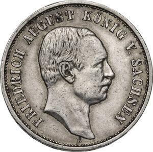 obverse: Germany.  Friedrich August III (1904-1918).. AR 3 Mark, Muldenhütten mint, 1908 E