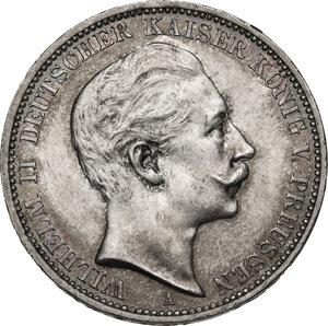 obverse: Germany.  Wilhelm II (1888-1918).. AR 3 Mark, Berlin mint, 1909 A