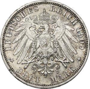reverse: Germany.  Wilhelm II (1888-1918).. AR 3 Mark, Berlin mint, 1909 A