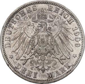 reverse: Germany.  Wilhelm II (1888-1918). AR 3 Mark, Berlin mint, 1909 A