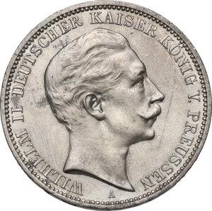 obverse: Germany.  Wilhelm II (1888-1918).. AR 3 Mark, Berlin mint, 1911 A