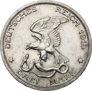 obverse: Germany.  Wilhelm II (1888-1918).. AR 3 Mark, Berlin mint, 1913 A