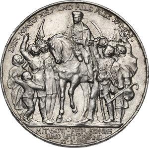 reverse: Germany.  Wilhelm II (1888-1918).. AR 3 Mark, Berlin mint, 1913 A