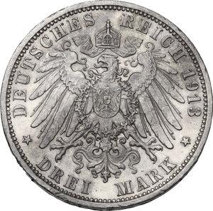 reverse: Germany.  Wilhelm II (1891-1918).. AR 3 Mark , Berlin mint, 1913 A