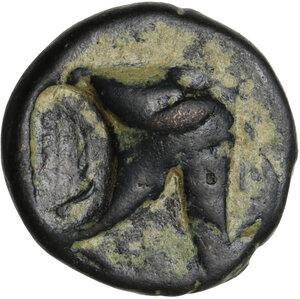 obverse: Pontos, Amisos.  Mithridates VI Eupator (120-63 BC).. AE 19 mm, 130-100 BC