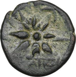 reverse: Pontos, Amisos.  Mithridates VI Eupator (120-63 BC).. AE 19 mm, 130-100 BC