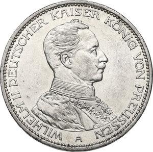 obverse: Germany.  Wilhelm II (1891-1918).. AR 3 Mark, Berlin mint, 1914 A