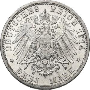 reverse: Germany.  Wilhelm II (1891-1918).. AR 3 Mark, Berlin mint, 1914 A