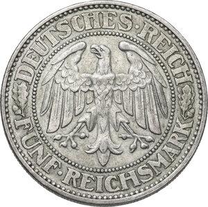 reverse: Germany.  Weimar Republic (1918-1933). AR 5 Reichsmark, Berlin mint, 1928 A