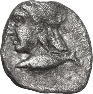 obverse: Mysia, Kyzikos. AR Hemiobol, circa 450-400 BC