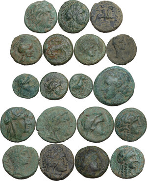 obverse: Greek World.. Multiple lot of nineteen (19) unclassified AE coins
