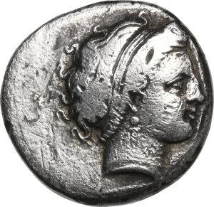 obverse: Central and Southern Campania, Neapolis. AR Didrachm. Circa 320-300 BC