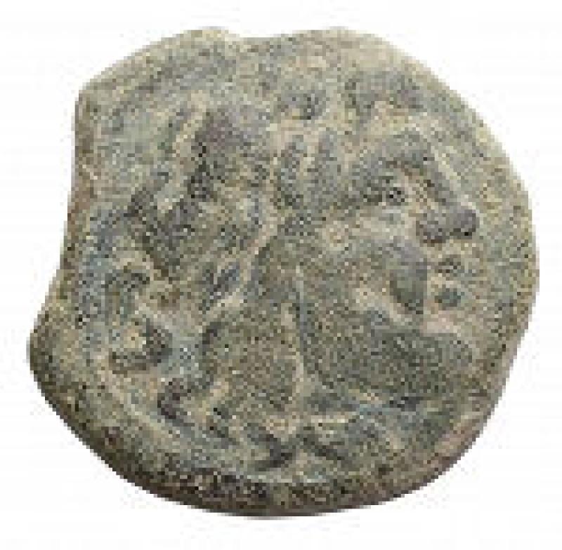 obverse: Repubblica Romana - Gens Atilia.M. Atilius Saranus.Semisse ca 148 acd/ Testa laureata di Saturno a destra, dietro S.r/ Prua a destra, sopra M.ATILI, sotto ROMA.AE.g 8,95.mm 21,5 x 22,2. BB+/BB. Bella patina verde
