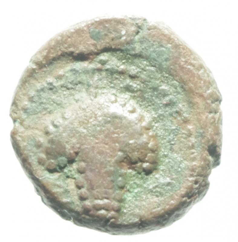 reverse: Mondo Greco. Apulia. Arpi. III sec. a.C. AE 14. D/ Testa di Athena con elmo corinzio a destra. R/ APANOY. Grappolo d uva. SNG ANS 646. Peso gr. 3.75. Diametro 16,00 mm. Bel BB. Patina Rossa.
