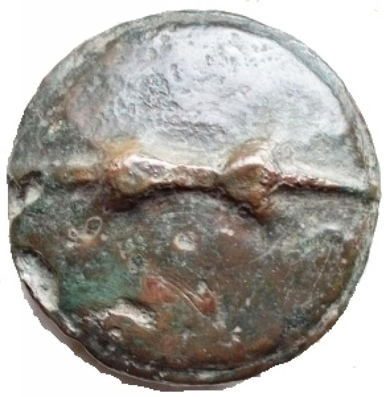 obverse: Mondo Greco - Apulia. LuceriaQuatrunx. ( Ae 80,42 g ) Circa 269-225 ac. d/ Fulmine r/ Clava. Haeberlin pl. 70, 10-11. qBB. Raro